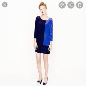 J.Crew blue on blue color block sheeth Dress 8